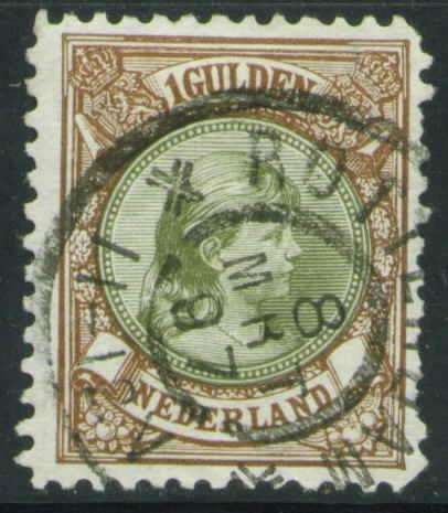 Netherlands Scott 52 used 1896 issue CV$21