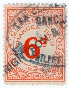 (I.B) George V Revenue : Tea Clearing House 6d