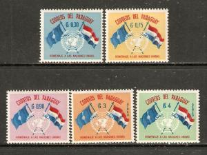 Paraguay    #569-71,C272-73  MNH  (1960) c.v. $1.00