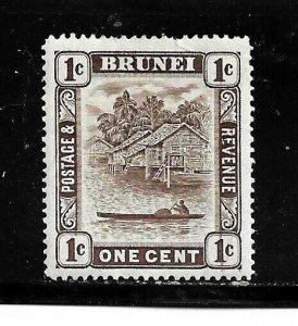Brunei Stamp- Scott # 62/A1- 1c-Mint/LH-1947-51-OG
