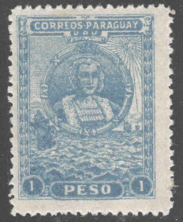 Paraguay Scott 260 MH* Christopher Colombus stamp