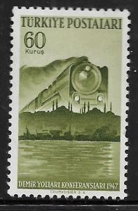 TURKEY ,962, MINT HINGED, RAILROAD CONGRESS