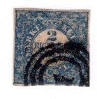 Denmark #1, Used, 1 Postmark, CV $1000   .....1670001