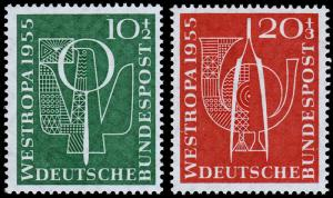 Germany Scott B342-B343 (1955) Mint H VF Complete Set C