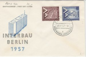 Berlin 1957 International Building Exhibition Building FDC Stamps Cover Ref24291