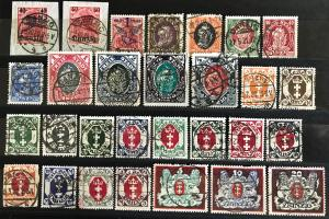 Danzig: Lot Early Used Stamps