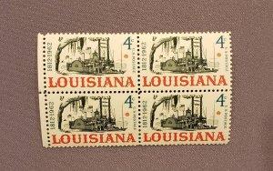 1197, Louisiana Statehood, Block of 4, Mint OGNH