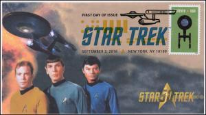 2016, Star Trek, 50 years, Digital Color Postmark, 16-257