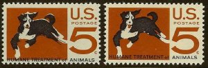1307 - Color Shift Error / EFO Humane Treatment of Animals Mint NH