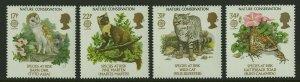 Great Britain SC1141-1144 Species At Risk Barn Owl Pine Marten Wild Cat Toad
