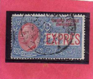 ITALIA REGNO ITALY KINGDOM 1908 ESPRESSI EFFIGIE RE VITTORIO EMANUELE ESPRESS...