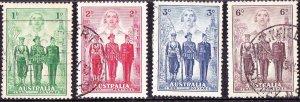 AUSTRALIA 1940 1d, 2d, 3d & 6d Australian Imperial Forces Set SG196-199 FU