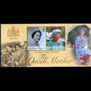 SOLOMON IS. 2002 - Scott# 947 S/S Queen Mother NH