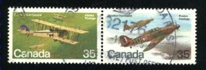 Can #876a   -1   pair     used VF 1980 PD