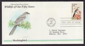 US Mockingbird 1987 Typed FDC BIN
