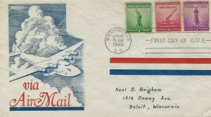 899/901 NATIONAL DEFENSE - Anderson air mail cachet