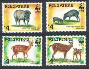 Philippines WWF Spotted Deer and Warty Pig 4v SG#2992-2995 MI#2814-2817