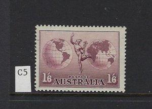 AUSTRALIA SCOTT #C5 1937 AIR MAIL - MINT NEVER HINGED