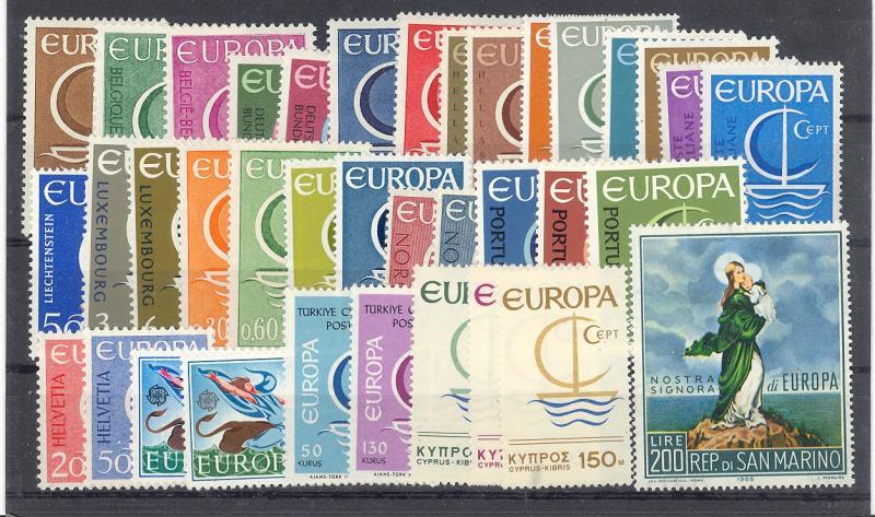 Europa CEPT  1966 complete  VF NH  - Lakeshore Philatelics