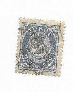 Norway #44 Used - Stamp - CAT VALUE $3.50