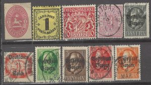 COLLECTION LOT # 3150 GERMAN STATES 10 STAMPS 1865+ CV+$24
