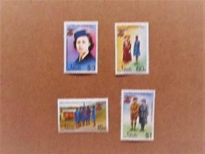 Nevis - 423-26, MNH Set. Girl Guides Anniversary. SCV - 1.60