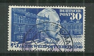 Scarce 1949 Germany #669 Heinrich von Stephan used SCV$37.50
