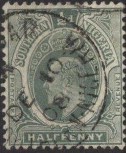 Southern Nigeria 45 (used) ½p George V, green (1912)