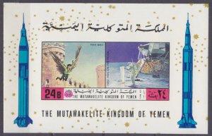 1970 Yemen Kingdom 1173/B224b Icarus / Astronaut on the moon. 24,00 €