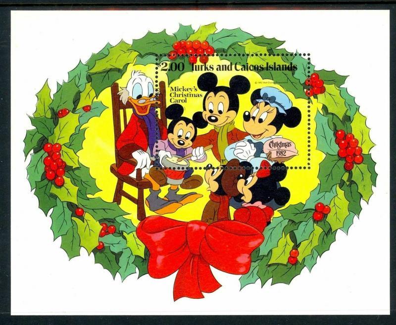 TURKS & CAICOS - 1982 - DISNEY- MICKEY - CHRISTMAS CAROL - MINT - MNH S/SHEET!