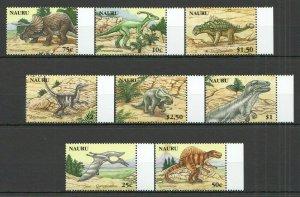 W1309 2006 NAURU PREHISTORIC ANIMALS DINOSAURS #638-45 MICHEL 15 EURO 1SET FIX
