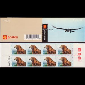 NORWAY 2000 - Scott# 1253A Booklet-Golden Eagle NH