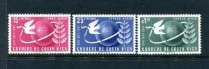 Costa Rica C186-C188, MH, Symbols of UPU 1950. x31261
