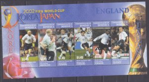 2003 Dominica 3422-27KL 2002 FIFA World Cup in Japan and Korea 7,50 €