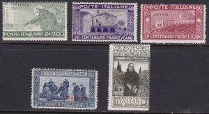1926 Eritrea, N° 102/106 , San Francesco, 5 Values,MNH