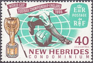 New Hebrides, British # 117 mnh ~ 40¢ World Cup Soccer