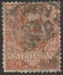 Italy, #80 Used From 1901-26, few damaged perfs