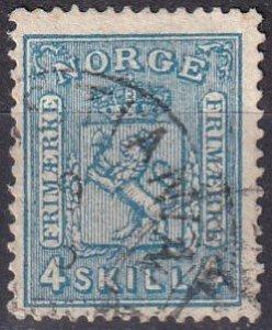 Norway #14  F-VF  Used  CV $11.00  (Z7992)