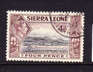 SIERRA LEONE  1938-44  4d  KGVI PICTORIAL  FU  SG 193