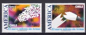 Chile 1999 AMERICA UPAEP set (2) Perforated Mint (NH)