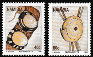 Namibia,  Sc 787-788,  MNH,  1993,  Traditional Adornments  AA02399