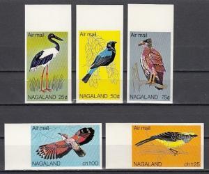 Nagaland, 1978 India Local. Birds, IMPERF set. ^
