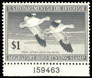 U.S. REV. DUCKS RW14  Mint (ID # 87990)