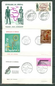 SENEGAL AIR #C31-32-33....NICE FDC