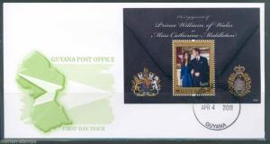 GUYANA ENGAGEMENT OF PRINCE WILLIAM AND CATHERINE MIDDLETON S/SHEET FDC