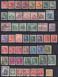 Czechoslovakia (Bohemia & Moravia) collection of 50 Used issues some duplication