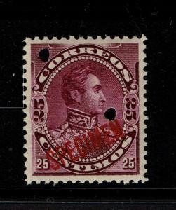 Venezuela 1893 25c Magenta Specimen, Mint Never Hinged, lg ovpt angled - S1456