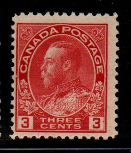 Canada Sc 109 1923 3c carmine G V Admiral stamp mint NH