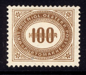 Austria 1899  Scott #J33 MLH (CV 24.00)