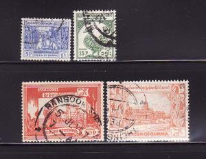 Burma 142, 144-146 U Bell, Bird, Spinning, Royal Palace (A)